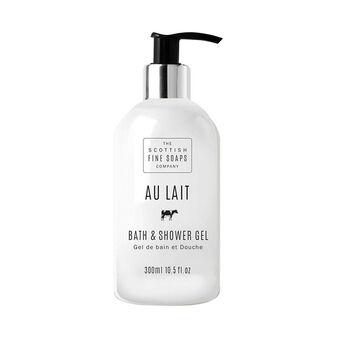 Scottish Fine Soaps Au Lait Bath and Shower Gel 300ml, , large