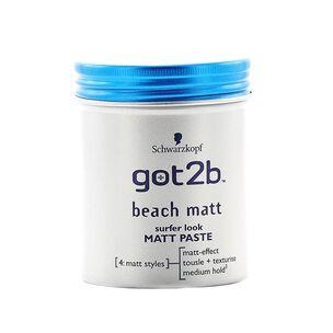 Schwarzkopf Got2b Beach Matt Paste 100ml, , large