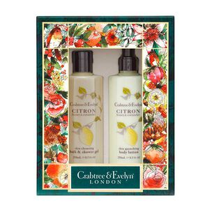 Crabtree & Evelyn Citron Body Care Duo, , large