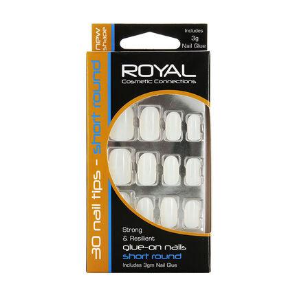 Royal Glue on Nails Short Round Nails 30 Tips, , large