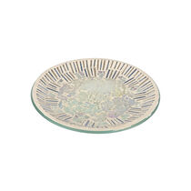Cello Glistening Glass Candle Plate, , large