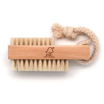 Basicare FSC Wood Nail Brush Natural Bristle, , large