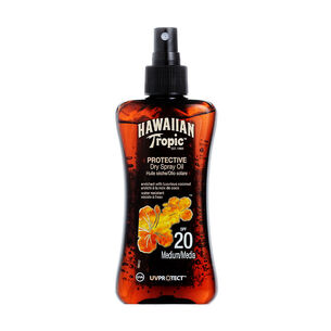 Hawaiian Tropic Protective Dry Spray Oil SPF20 200ml, , large