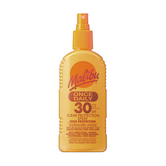 Malibu Once Daily Clear Protection Spray SPF30 200ml, , large