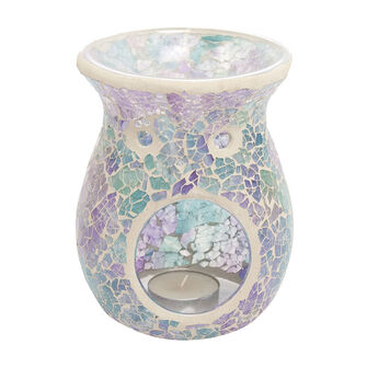 Heart & Home Wax Melt Warmer  Iridescent Tapered Crackle, , large