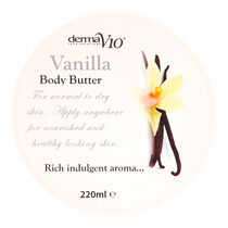 DermaV10 Body Butter Vanilla 220ml, , large