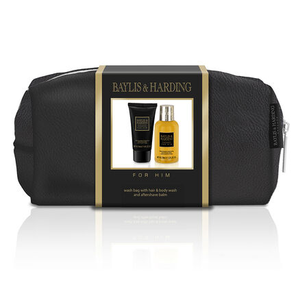 Baylis & Harding Black Pepper & Ginseng Wash Bag Gift Set, , large