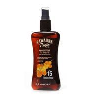 Hawaiian Tropic Protective Dry Spray Oil (SPF15) 200ml, , large