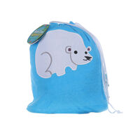 Bath Time Adventures Polar Bear Drawstring Wash Bag, , large