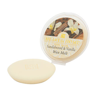 Heart & Home Wax Melt Sandalwood & Vanilla 27g, , large