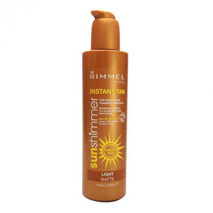 Rimmel Sun Shimmer Maxi Instant Tan Light Matte 225ml, , large