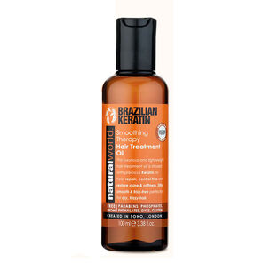 Natural World Brazilian Keratin Hair Treatment Oil 100ml, , large