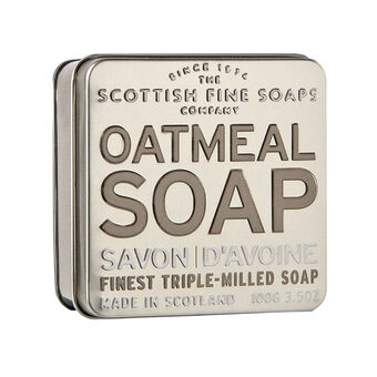 Scottish Fine Soaps Oatmeal Soap in a Tin 100g, , large