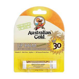 Australian Gold Sunscreen Lip Balm Refreshing Kiwi-Lime 4.2g, , large