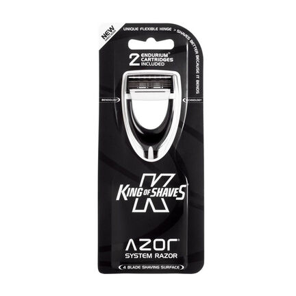 King of Shaves Azor Hybrid Synergy Systems Razor Black, , large