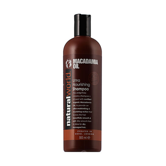 Natural World Macadamia Oil Ultra Nourishing Shampoo 500mlNa, , large