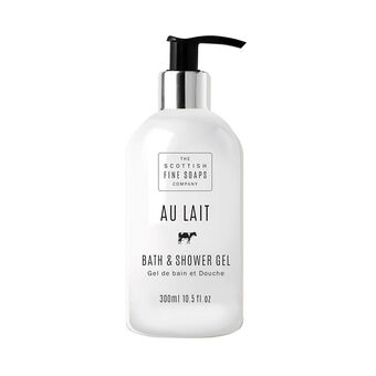 Scottish Fine Soaps Au Lait Bath and Shower Gel 300ml, , large