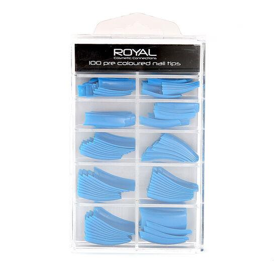 Royal 100 Pre Coloured Nail Tips, , large