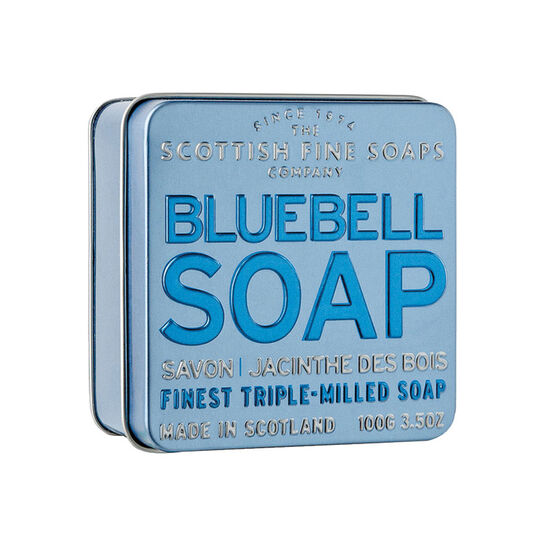 Scottish Fine Soaps Bluebell Soap in a Tin 100g, , large