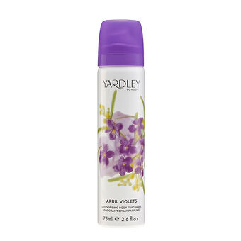 Yardley April Violets Refreshing Body Spray 75ml, , large