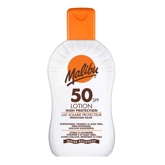 Malibu Sun Protection Lotion SPF50 200ml, , large
