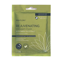 BeautyPro REJUVENATING Collagen Sheet Mask with Green Tea, , large