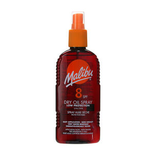 Malibu Sun Dry Oil Spray SPF8 200ml, , large