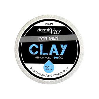 DermaV10 Mens Hair Styling Clay 75ml, , large