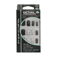 Royal Cosmetics 24 Glue On Nail Tips, , large