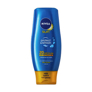 Nivea Protect and Refresh Sun Lotion SPF20 200ml, , large