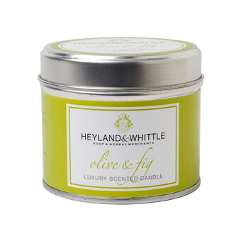 Heyland & Whittle Olive & Fig Candle In A Tin 180g, , large