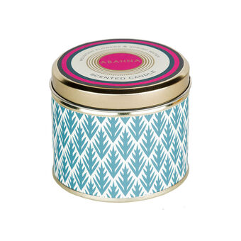 Abahna Mountain Flowers & Spring Water Tin Candle 160g, , large