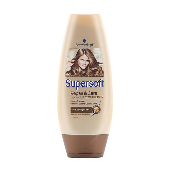 Schwarzkopf Supersoft Repair & Care Coconut Conditioner 250m, , large