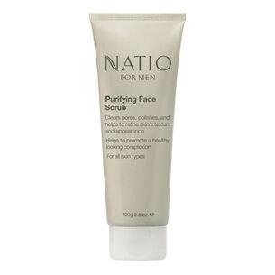 Natio For Men Purifying Face Scrub 100g, , large