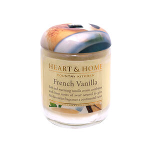Heart & Home French Vanilla Small Candle Jar 274g, , large