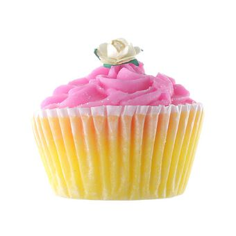 Rose & Co Patisserie de Bain Pink Grapefruit Cupcake Soap, , large