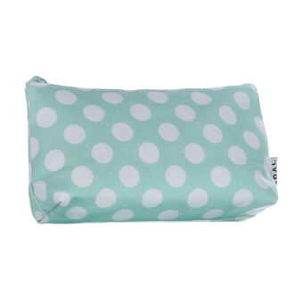 Opal Crafts Small Green Dot Cosmetic Bag, , large