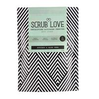Scrub Love Active Charcoal Scrub Avocado & Aloe Vera 200g, , large