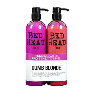 Tigi Bed Head Dumb Blonde Twin 2 x 750ml, , large