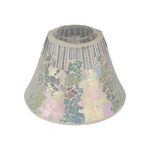 Cello Glistening Glass Candle Shade, , large