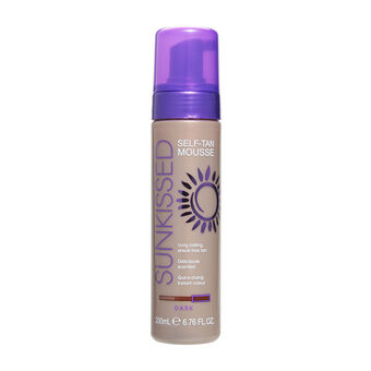 Sunkissed Self Tan Mousse Dark 200ml, , large
