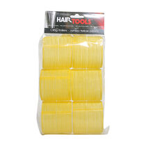 Hair Tools Jumbo Velcro Rollers Yellow 66mm, , large