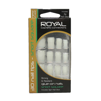 Royal Glue on Nails Short Square Nails, , large