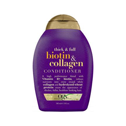 Organix Thick & Full Biotin & Collagen Conditioner 385ml, , large