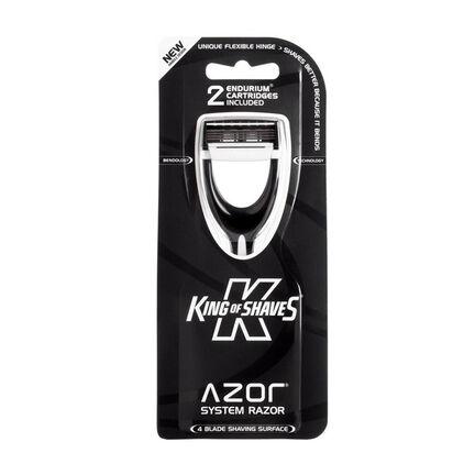 King of Shaves Azor Hybrid Synergy Systems Razor Black, , large