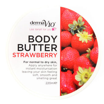 DermaV10 Body Butter Strawberry 220ml, , large