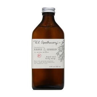 USA Apothecary Juniper Geranium Liquid Soap 250ml, , large