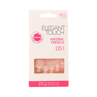 Elegant Touch Natural French Toe Nails 051, , large