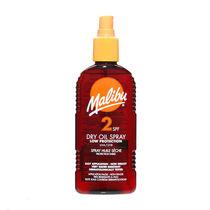 Malibu Sun Dry Oil Spray SPF2 200ml, , large