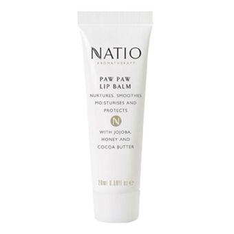 Natio Cosmetics Paw Paw Lip Balm 20ml, , large